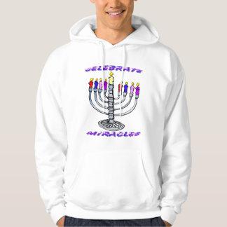Hanukkah - Celebrate Miracles, Menorah Hoodie