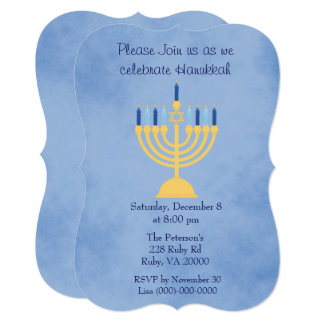 Hanukkah Celebration Party Card