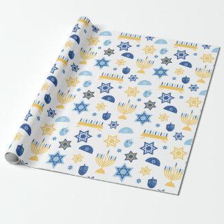 Hanukkah Chanukkah Menorah Star Wrapping Paper