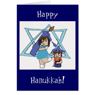 Hanukkah chibi card