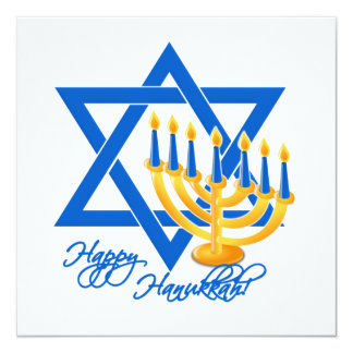 Hanukkah invitation, customize card