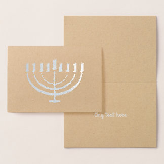 Hanukkah Menorah Holiday Custom Card
