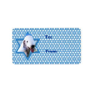 Hanukkah Star of David - Bedlington Terrier Label