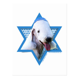 Hanukkah Star of David - Bedlington Terrier Postcard