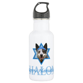 Hanukkah Star of David - Cattle Dog 532 Ml Water Bottle