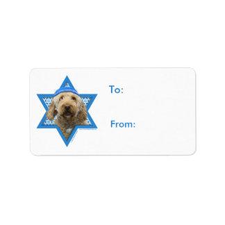 Hanukkah Star of David - GoldenDoodle Address Label