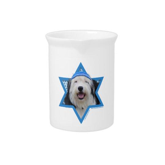Hanukkah Star of David - Old English Sheepdog Beverage Pitchers
