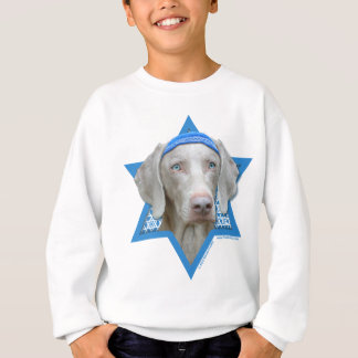 Hanukkah Star of David - Weimaraner Sweatshirt