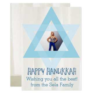 Hanukkah Star Photo Card
