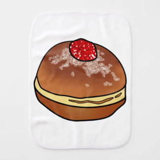Hanukkah Sufganiyah Jelly Donut Baby Item Burp Cloth