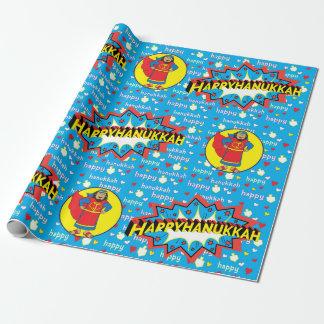 """Hanukkah Wrapping Paper """"Judah Super Hero"""" 2016"""