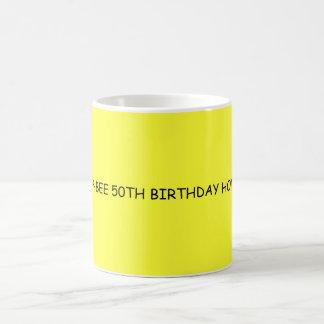 HAP-BEE 50TH BIRTHDAY HONEY COFFEE MUG