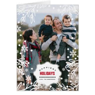 Happiest Holidays. Custom Christmas Photo Cards