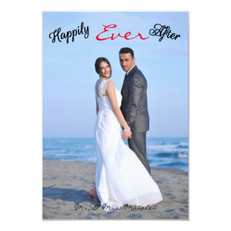 Happily Ever After Photo - 3x5Wedding Announcement