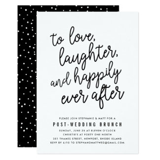 Happily Ever After Post Wedding Brunch Invitation