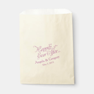 Happily Ever After Purple Wedding Favor Favour Bags