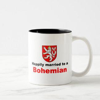 Happily Married To A Bohemian Two-Tone Coffee Mug