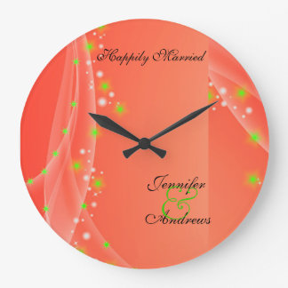 Happily Married Wedding Clock for Newly Weds