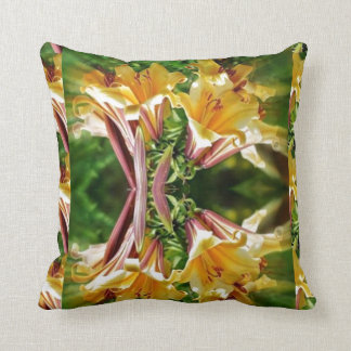 HAPPINESS Fresh look Golden Flower Show Greetings Throw Pillow