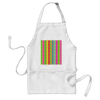 HAPPINESS in COLOR: Smiling Stripes on Golden Base Standard Apron