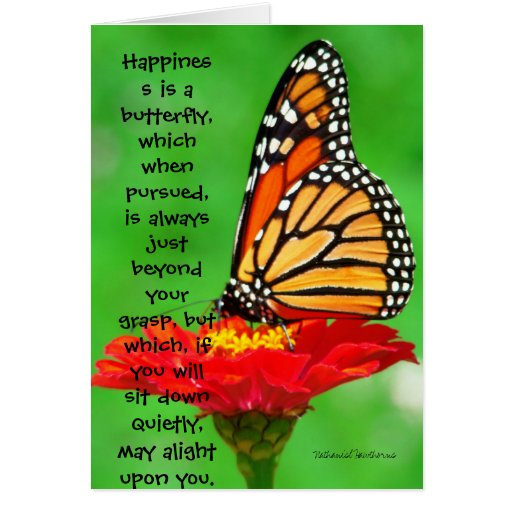 Happiness is a butterfly.... greeting card