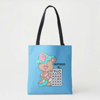 Happiness is Bingo Gambling tote bag