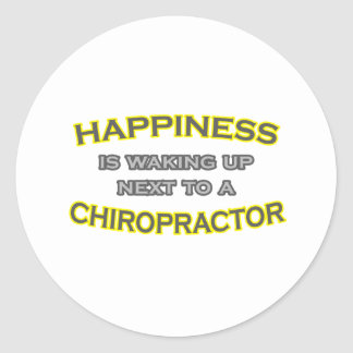 Happiness Is Waking Up Next To Chiropractor Sticker