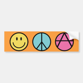 Happiness Peace and Freedom Bumper Sticker