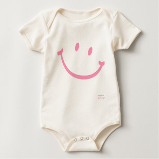 happiness smiley (pink) baby bodysuit