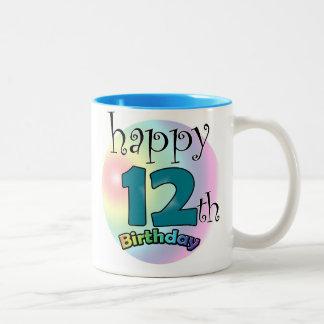 Happy 12th Birthday Two-Tone Coffee Mug