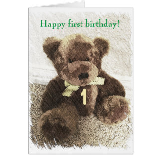 Happy 1st birthday - boy or girl card