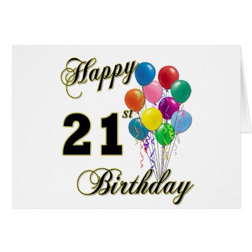 Happy 21st Birthday With Balloons