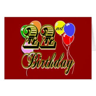 Happy 22nd Birthday Merchandise Greeting Card
