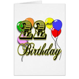 Happy 22nd Birthday Merchandise Greeting Cards