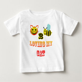 happy 2 bee loving my cat baby T-Shirt
