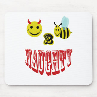 happy 2 bee naughty mouse pad