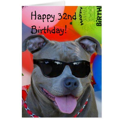 Happy Birthday Pitbull Cards, Invitations, Photocards & More