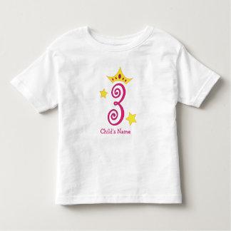 Happy 3rd Birthday, Princess! Toddler T-Shirt