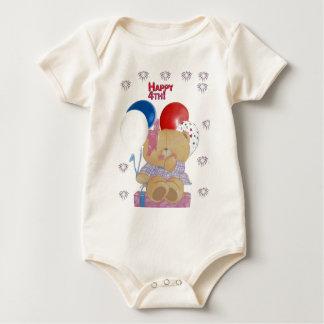 Happy 4th baby bodysuit