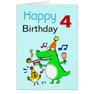 4 Years Old Boy Birthday Cards Invitations Zazzle Co Nz Happy Birthday Wishes To Small Boy