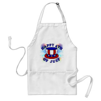 Happy 4th July Crackers Adult Apron