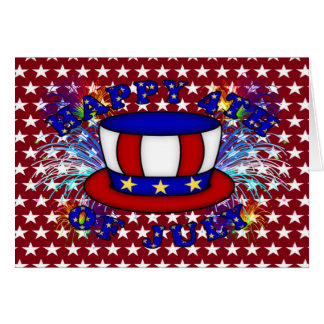 Happy 4th July Crackers Greeting Card