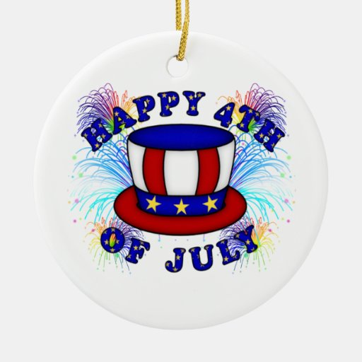 Happy 4th July Crackers Christmas Ornament
