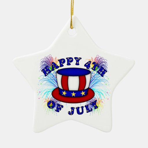 Happy 4th July Crackers Christmas Tree Ornaments