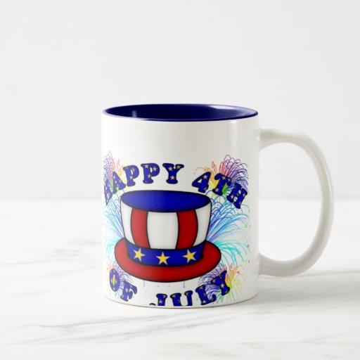 Happy 4th July Crackers Coffee Mug