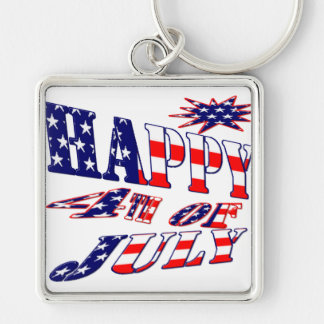 Happy 4th July Key Ring