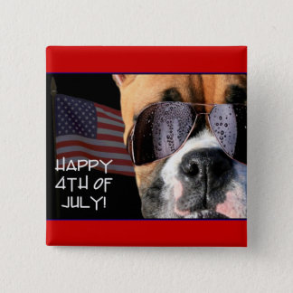 Happy 4th of July Boxer button