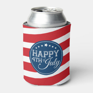 Happy 4th of July Stars and Stripes Can Cooler