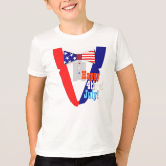 Happy 4th of July Uncle Sam Bowtie Tuxedo T-Shirt