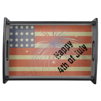 Happy 4th of July | Vintage Style Serving Tray